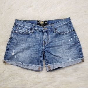 Lucky Brand Riley Cut Off Short Jean Shorts